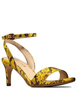 Clarks Amali Jewel Heeled Sandal - Yellow