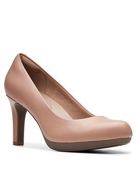 Clarks Clarks Adriel Viola Leather Heeled Court Shoe - Beige Picture