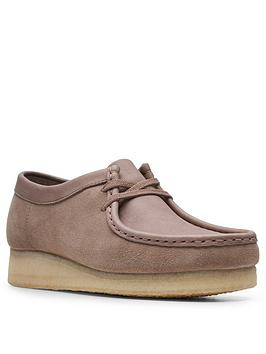 Clarks Clarks Originals Wallabee Leather Flat Lace Up Shoe - Mushroom Picture