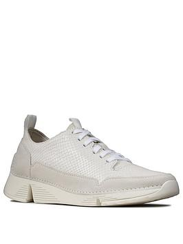 Clarks Clarks Tri Spark Leather Trainers - White Picture