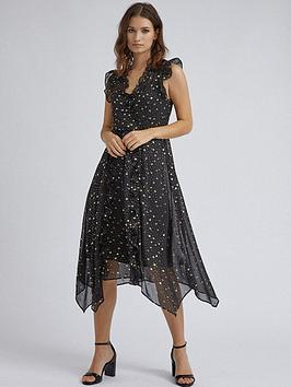 dorothy-perkins-dorothy-perkins-star-print-ruffle-midi-dress-black