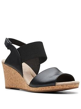 Clarks Clarks Lafley Lily Wedge Sandal - Black Picture