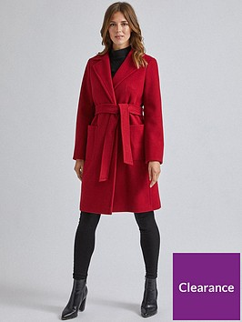dorothy-perkins-dorothy-perkins-patch-pocket-wrap-coat-red