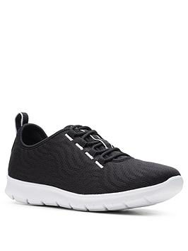 Clarks Clarks Step Allena Go Trainers - Black Picture
