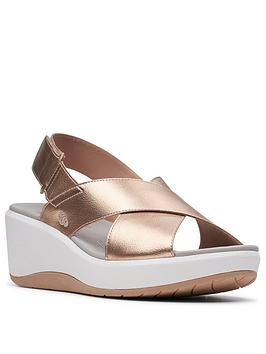 Clarks Clarks Step Cali Cove Wedge Sandal - Rose Gold Picture