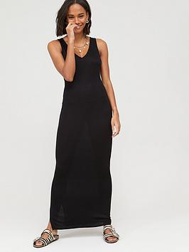 V by Very V By Very V-Neck Jersey Maxi Dress - Black Picture