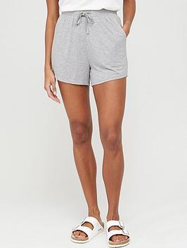 v-by-very-tie-waist-jersey-shorts-grey-marl