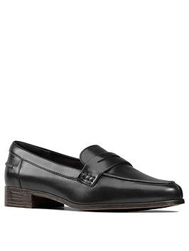 Clarks Clarks Hamble Leather Loafers - Black Picture