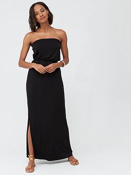 V by Very V By Very Tall Bardot Jersey Maxi Dress - Black Picture