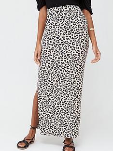 v-by-very-petite-petite-split-side-jersey-maxi-skirt-leopard-print