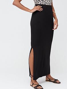 v-by-very-petite-petite-split-side-jersey-maxi-skirt-black