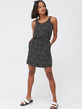 v-by-very-jersey-mini-dress-spot-print