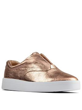 Clarks Clarks Hero Step Leather Trainer - Rose Gold Picture
