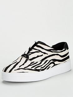 clarks-hero-step-leather-trainer-zebra-print