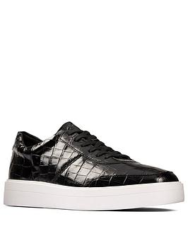 Clarks Clarks Hero Walk Leather Trainer - Black Croc Picture