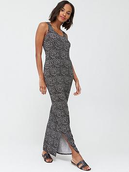 V by Very V By Very Tall Scoop Neck Jersey Maxi Dress - Spot Print Picture