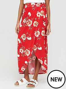 v-by-very-wrap-jersey-maxi-skirt-red-print