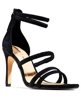Clarks Clarks Curtain Strap Leather Heeled Occasion Sandals - Black Picture