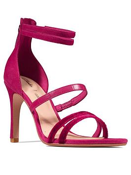 Clarks Clarks Curtain Strap Leather Heeled Occasion Sandal - Fuchsia Picture