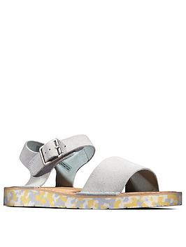 Clarks Clarks Lunan Strap Leather Flat Sandal - Light Blue Picture