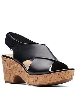 Clarks Clarks Maritsa Lara Wedge Sandals - Wide Fit Picture
