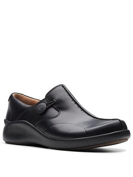 Clarks Clarks Un Loop2 Walk Flat Shoe - Black Picture