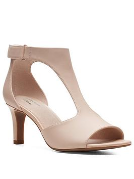Clarks Clarks Alice Flame Leather Heeled Sandals - Blush Picture