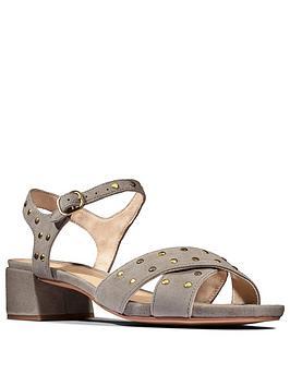 Clarks Clarks Sheer35 Strap Leather Block Heel Sandal - Sage Picture