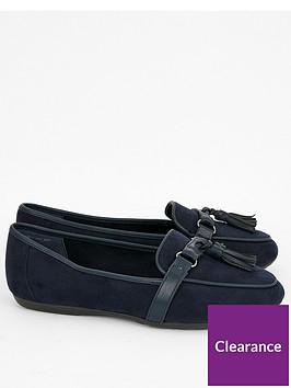 evans-wide-fit-rannie-tassel-loafers-black