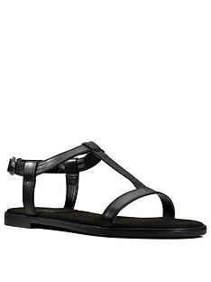 clarks-bay-rosa-leather-flat-t-bar-sandal-black