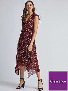 dorothy-perkins-dorothy-perkins-foil-print-ruffle-midi-dress-red