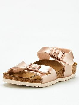 Birkenstock Birkenstock Girls Rio Sandal - Rose Gold Picture