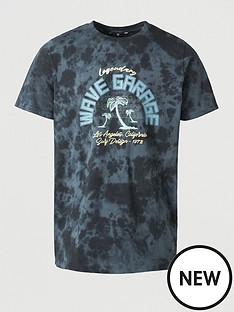 v-by-very-legendary-wave-garage-printed-t-shirt-navy