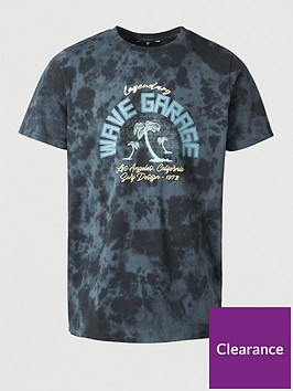 very-man-legendary-wave-garage-printed-t-shirt-navy