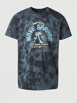 V by Very V By Very Legendary Wave Garage Printed T-Shirt - Navy Picture