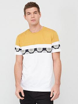 V by Very V By Very Cut &Amp; Sew Geo Panel T-Shirt - Mustard/White Picture