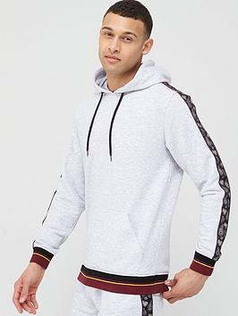 V by Very V By Very Paisley Taped Hoodie - Frost Marl Picture