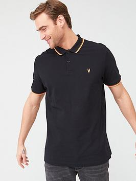 V by Very V By Very Fluro Tipped Collar Polo Shirt - Black/Orange Picture