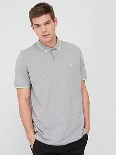 v-by-very-fluro-tipped-collar-polo-greylime