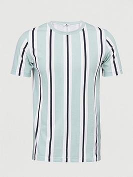 very-man-veritcal-stripe-t-shirt-green