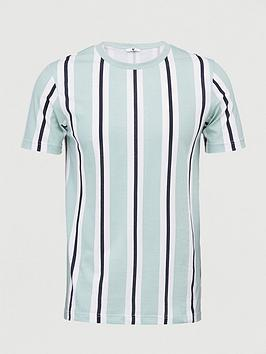 V by Very V By Very Veritcal Stripe T-Shirt - Green Picture