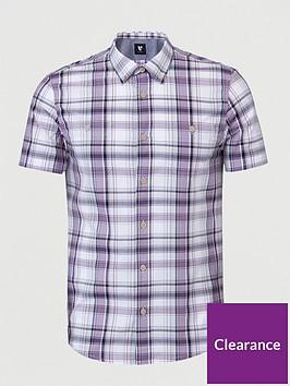 very-man-short-sleevednbspcheck-shirt-lilac