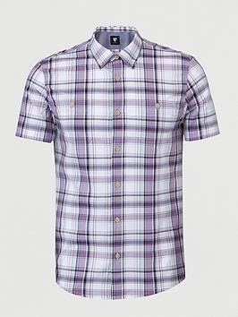 V by Very V By Very Short Sleeved Lilac Check Shirt Picture