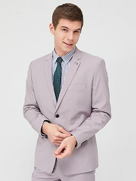 V by Very V By Very Stretch Slim Suit Jacket - Stone Picture