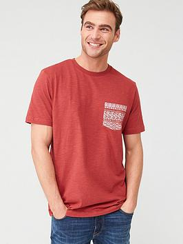 V by Very V By Very Printed Geo Pocket T-Shirt - Red Picture
