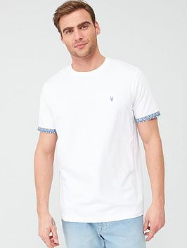 V by Very V By Very Printed Paisley Turn Up T-Shirt - White Picture