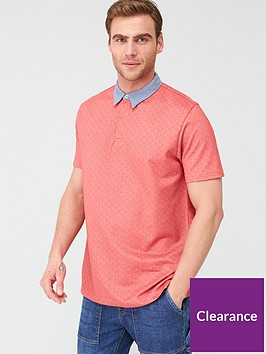 very-man-ditsy-chambray-collar-polo-shirt-red
