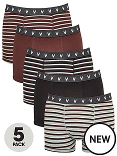 v-by-very-5-pack-fashion-stripe-trunks-burgundy