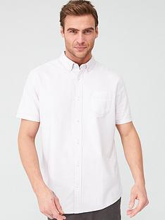 v-by-very-short-sleeved-button-down-oxford-shirt-lilac