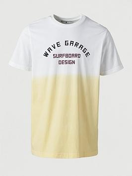 V by Very V By Very Wave Garage Ombre Printed T-Shirt -  Yellow Picture